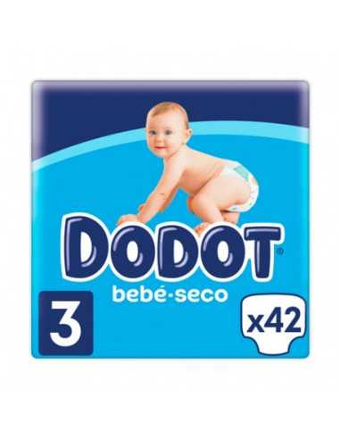 DODOT BEBE SECO T3 (6-10 KG) 42 UNIDADES