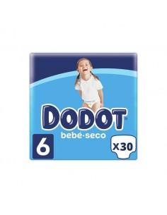 PAÑAL INFANTIL DODOT BEBE SECO T/ 6 + 13 KG 30 UNIDADES